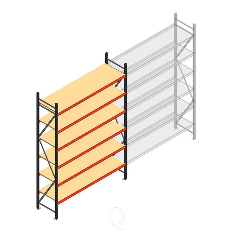 Beginsectie AR grootvakstelling 3000x1850x600 - 6 niveaus