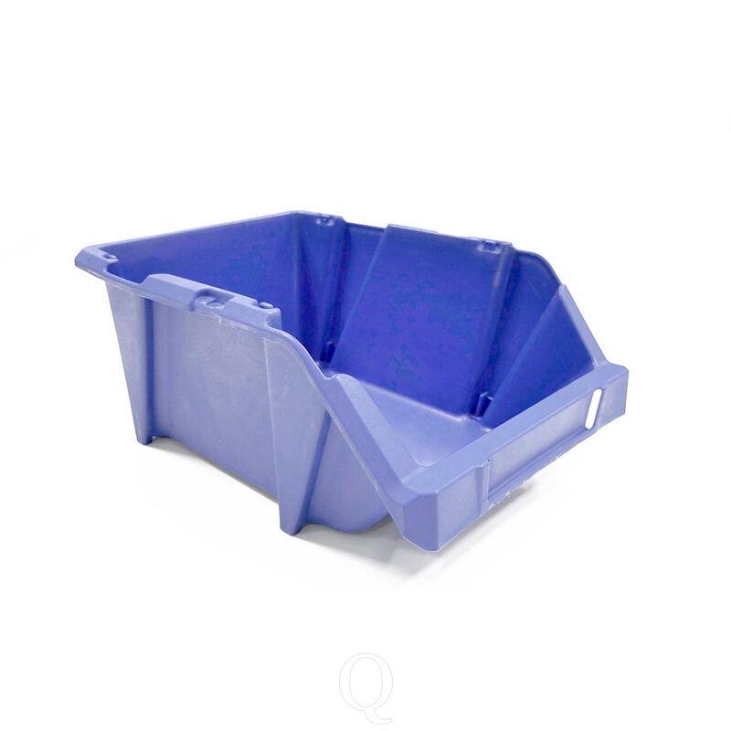 Stapelbare en nestbare kunststof magazijnbak type S3, 244x153x123 blauw