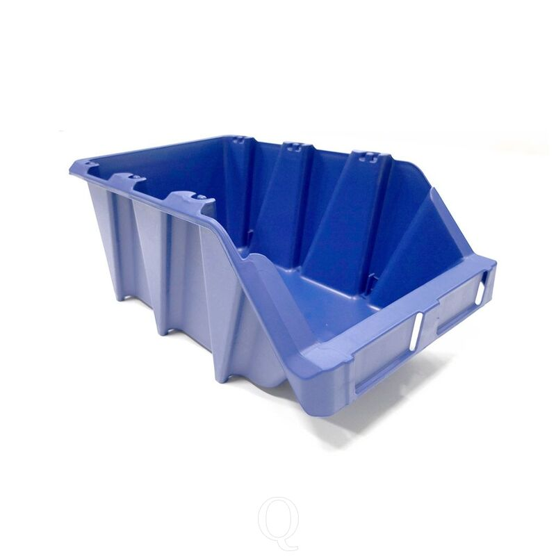Stapelbare en nestbare kunststof magazijnbak type S5, 360x217x155 blauw