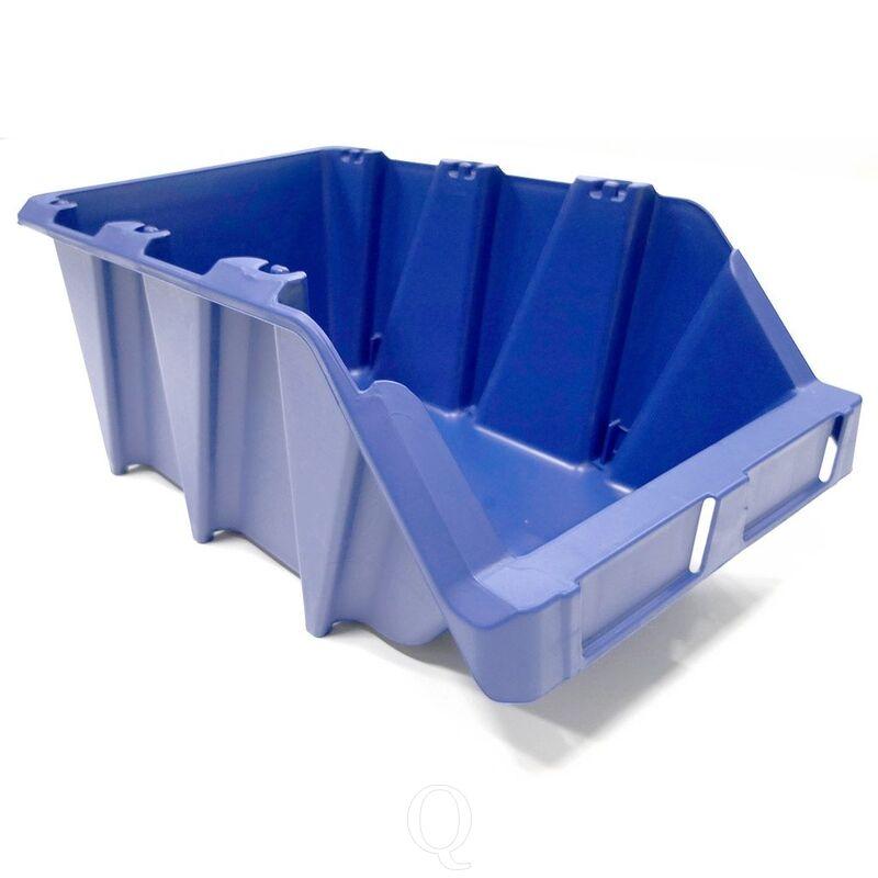 Stapelbare en nestbare kunststof magazijnbak type S7, 490x310x195 blauw