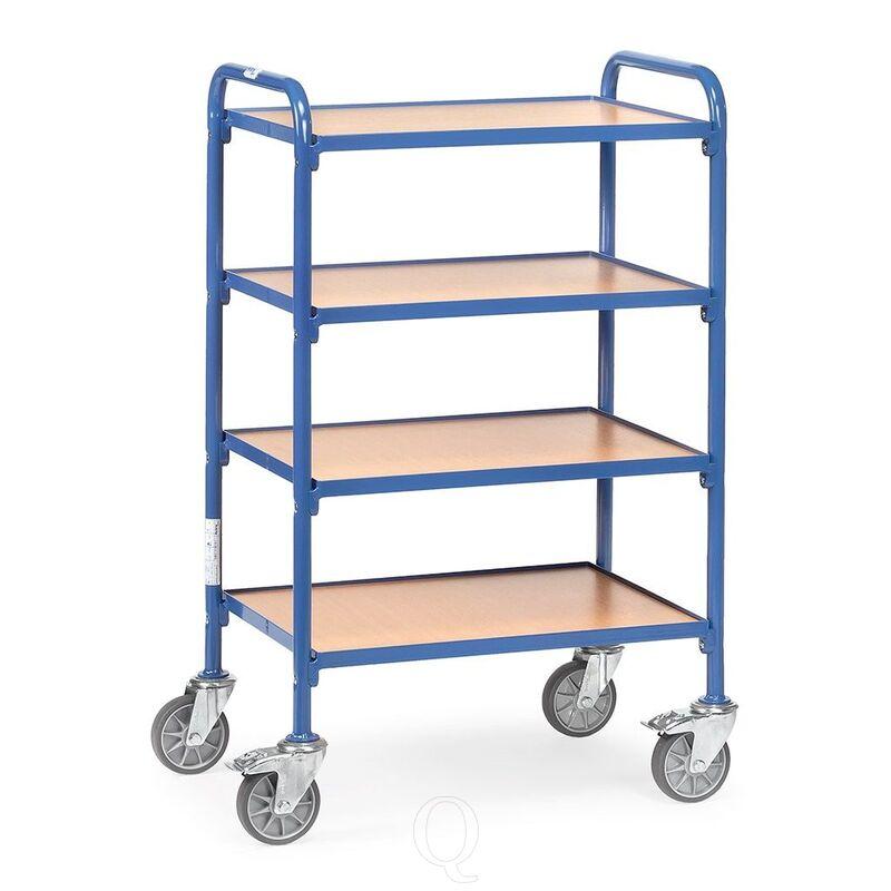 Bijzetwagen 250 kg met 4 houten etages 630x470