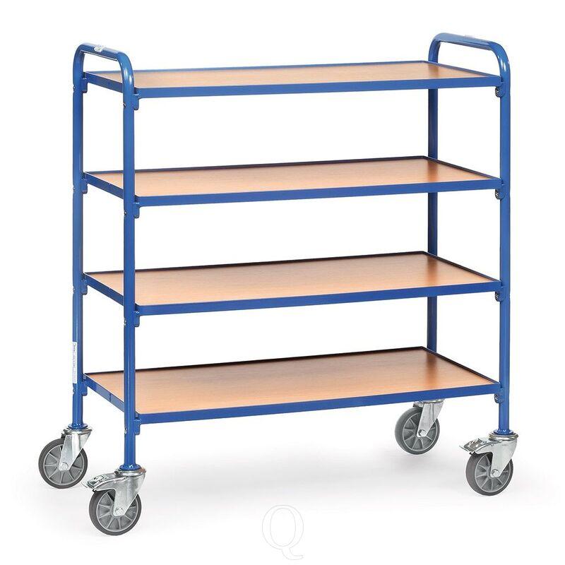 Bijzetwagen 250 kg met 4 houten etages 940x470 mm (lxb)