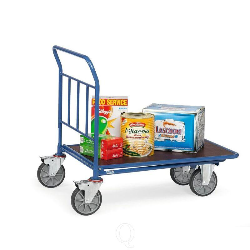 Cash & carry wagen 500 kg 1000x600 (lxb) met duwbeugel