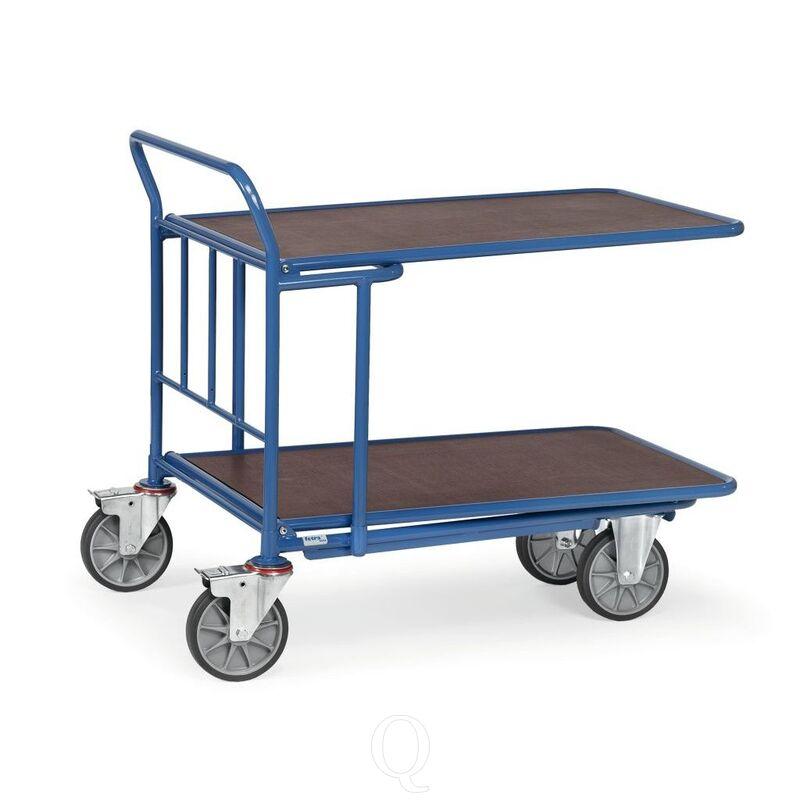 Cash & carry wagen 500 kg 1000x700 (lxb) met duwbeugel en 2 verstelbare etages