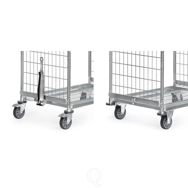 Dissel en koppeling voor orderverzamelwagens met laadvlakbreedte van 610 mm