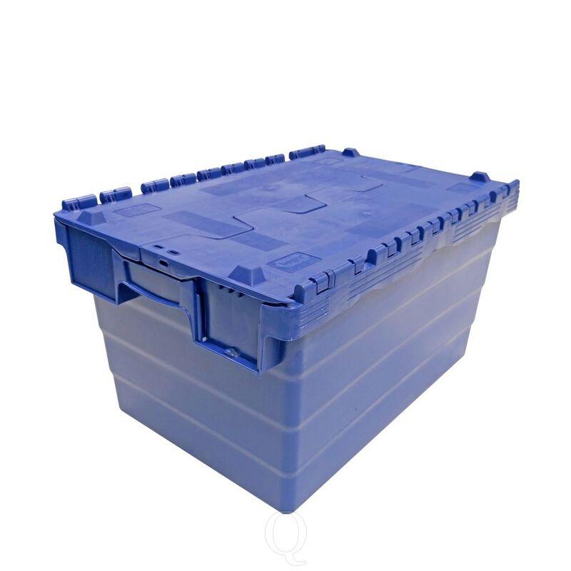 Distributiebak, transportbak 600x400x320 blauw