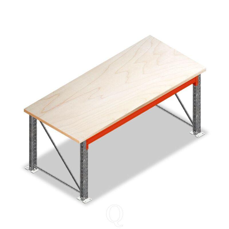 Enkellaags Werkbank, Werktafel zonder voorgemonteerde frames