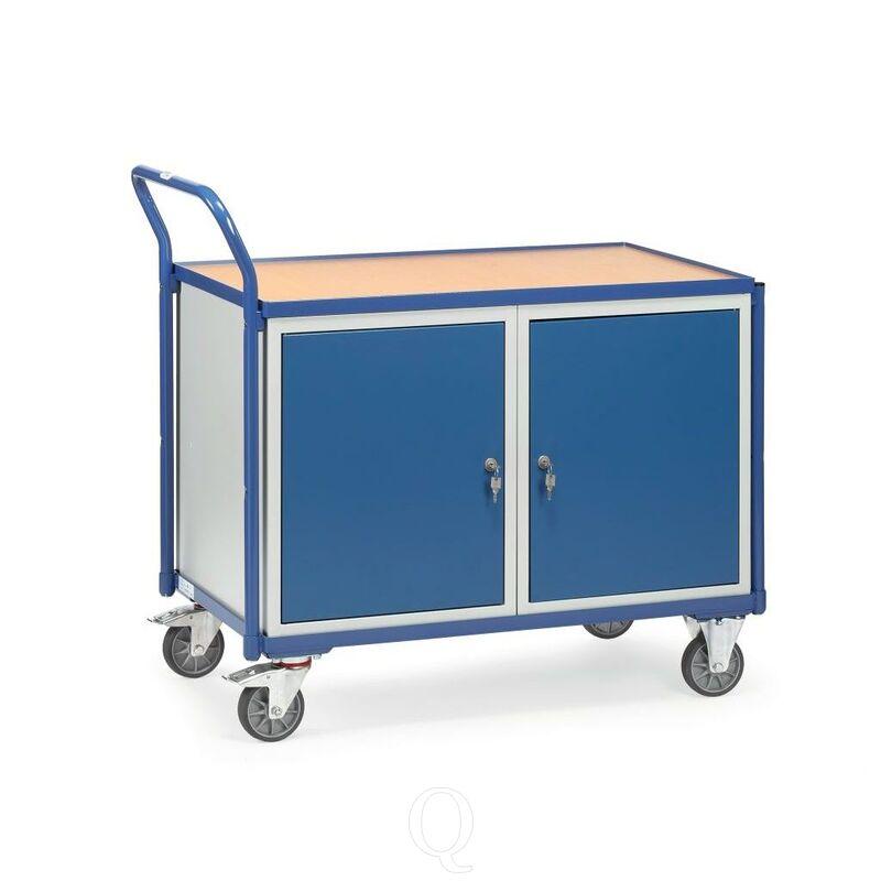 Lichte werkplaatswagen 300 kg met 2 etagebakken 1000x600 mm