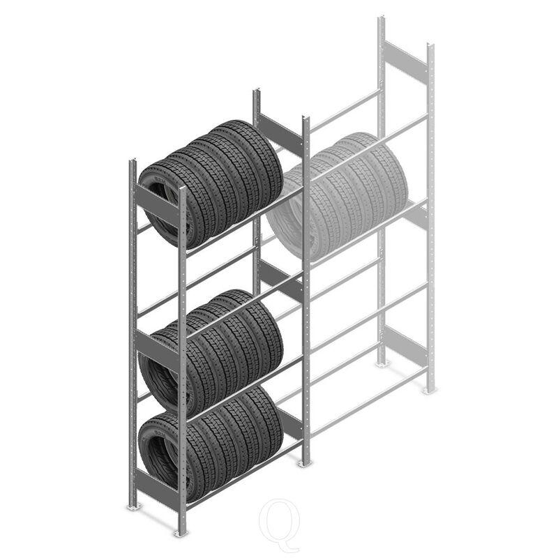 Bandenstelling Heavy Duty 2500x1000x400 4 niveaus beginsectie