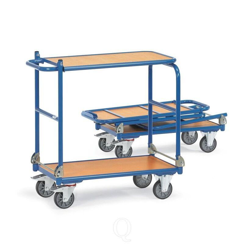 Inklapbare tafelwagen 250 kg met 2 duwbeugels 900x600