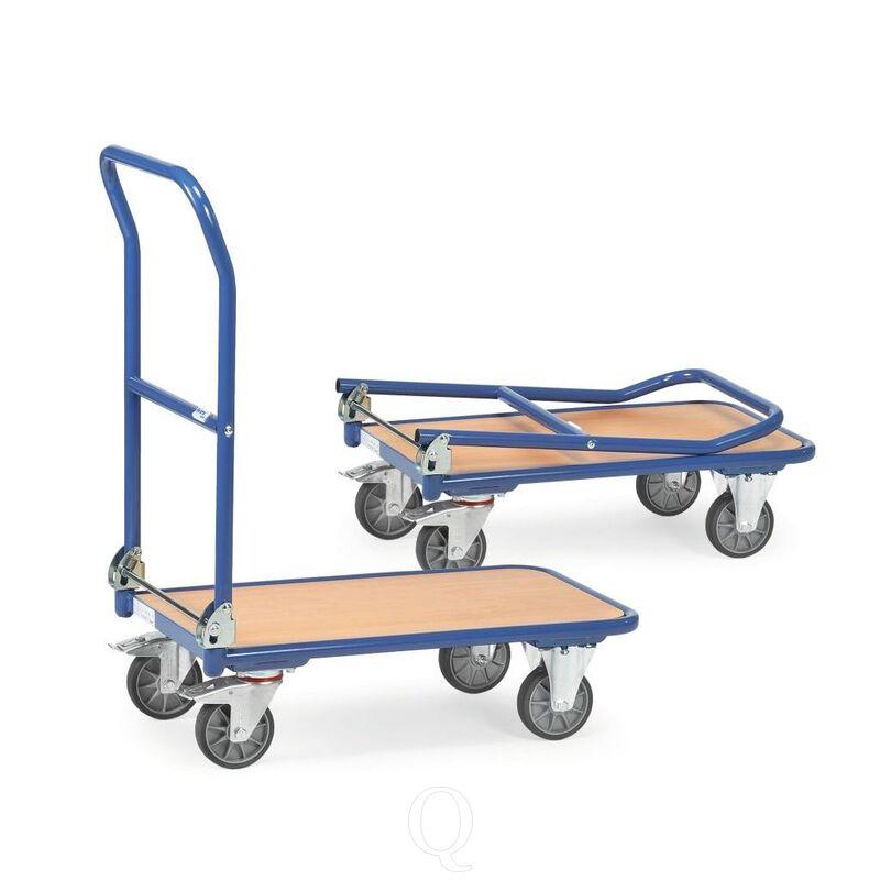 Inklapbare plateauwagen, magazijnwagen 250 kg 720x450