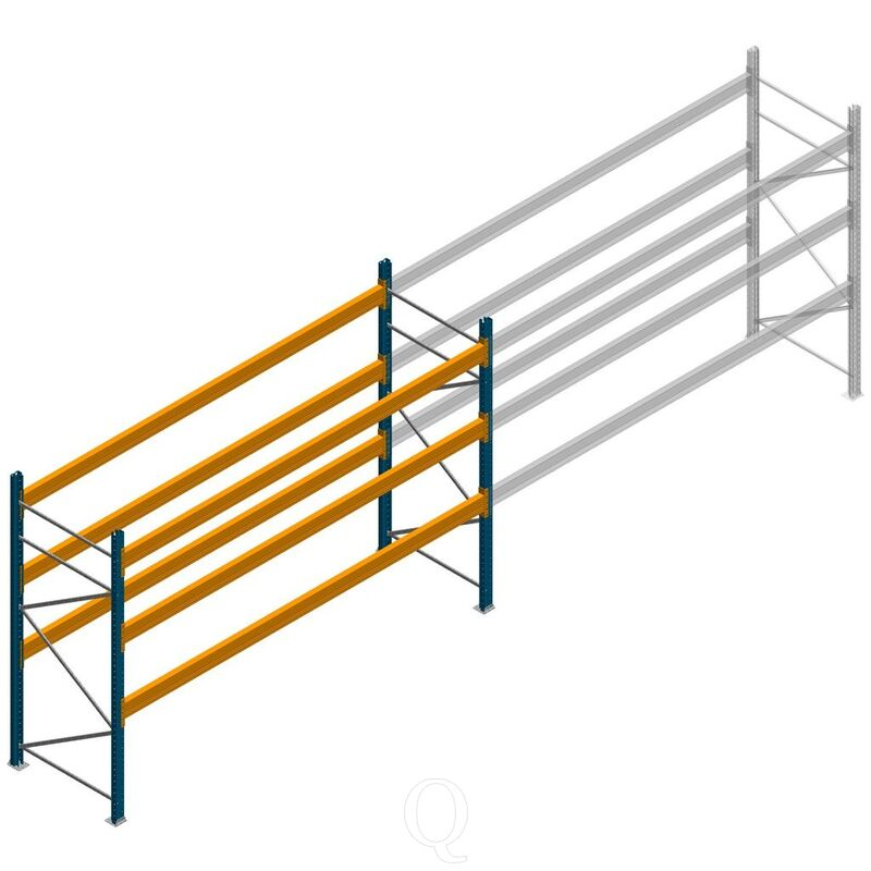 Palletstelling Apersa 2500x3600x1100 3 niveaus beginsectie