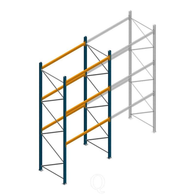 Palletstelling Apersa 4000x1850x1100 3 niveaus beginsectie