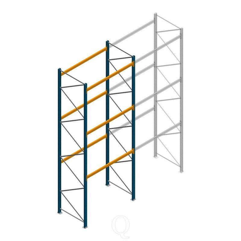 Palletstelling Apersa 5000x1850x1100 3 niveaus beginsectie