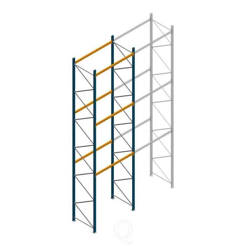 Palletstelling Apersa 7000x1850x1100 3 niveaus beginsectie