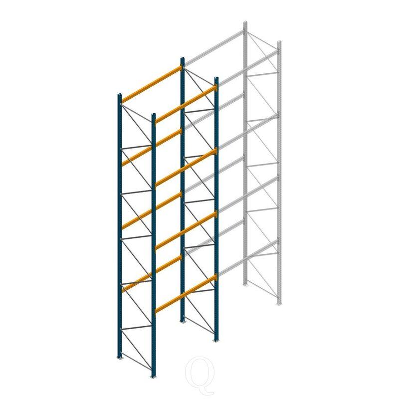 Palletstelling Apersa 7000x1850x1100 4 niveaus beginsectie
