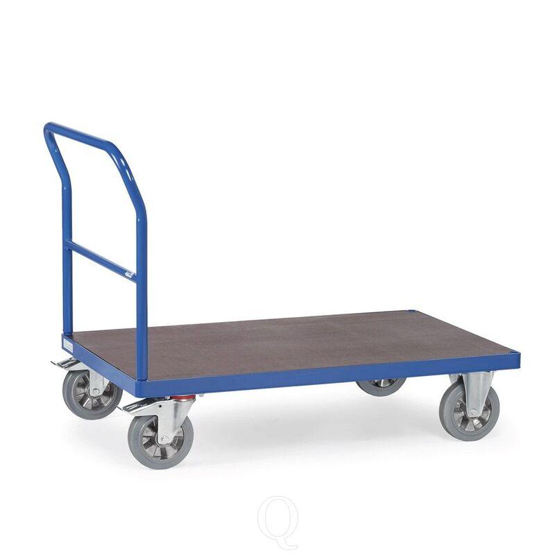 Platformwagen, zwaarlastwagen 1200 kg 1600x800 met open duwbeugel