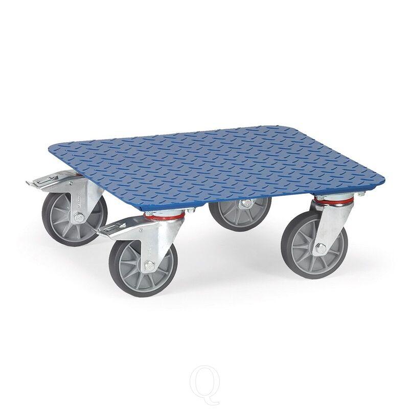 Rolplateau 400 kg 500x500 met geruit stalen platform