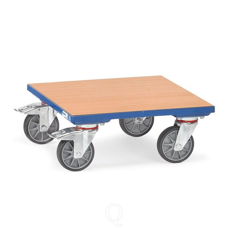Rolplateau 400 kg 600x600 met houten platform