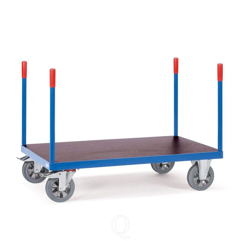 Rongenwagen, zwaarlastwagen 1200 kg 2000x800 met 4 schroefbare rongen