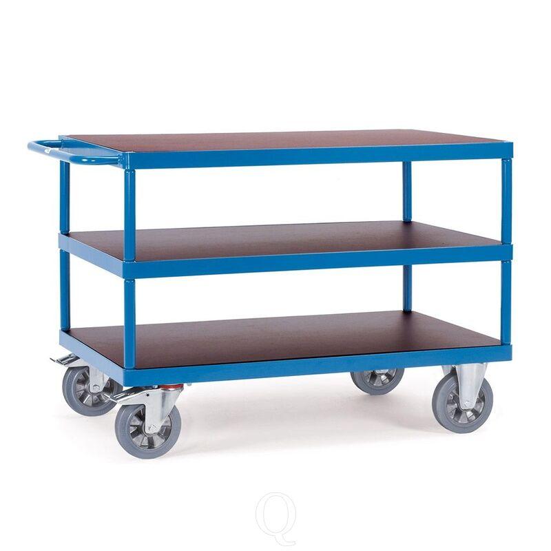 Tafelwagen, zwaarlastwagen 1200 kg 1200x800 met 3 houten etages