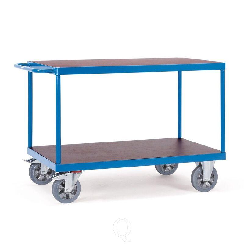 Tafelwagen, zwaarlastwagen 1200 kg 1600x800 met 2 houten etages
