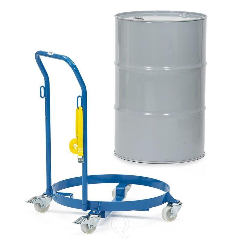 Vatenroller 250 kg doorsnee 610 mm met duwbeugel