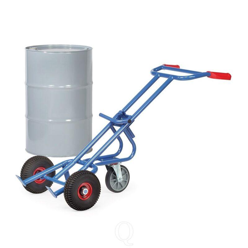 Vatensteekwagen 300 kg 1600 mm met rubberbanden en steun- zwenkwiel