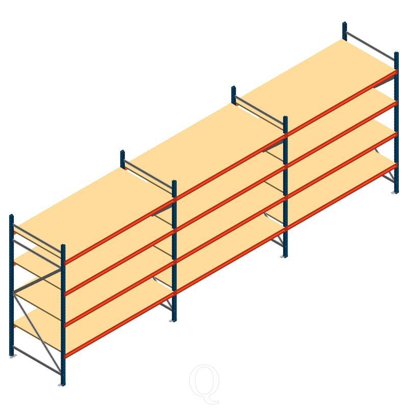Voordeelrij grootvakstelling AR 2000x6990x1000mm (hxbxd) - 4 niveaus