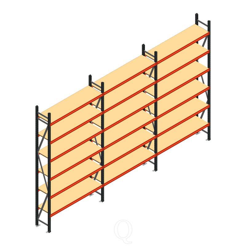 Voordeelrij grootvakstelling AR 3000x5070x400mm (hxbxd) - 6 niveaus