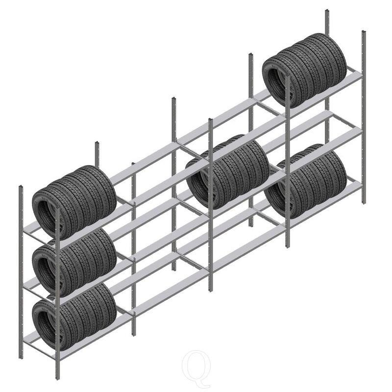 Voordeelrij bandenstelling Medium Duty 2200x4000x700 4 secties 3 niveaus