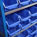 Aanbouwsectie bakkenkast met 24 kunststof stapelbakken