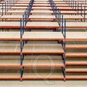 Voordeelrij grootvakstelling AR 2500x8340x1200mm (hxbxd) - 5 niveaus