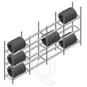 Voordeelrij bandenstelling Medium Duty 2200x4000x700 4 secties 3 niveaus