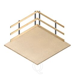 4800 mm houten leuningwerk set