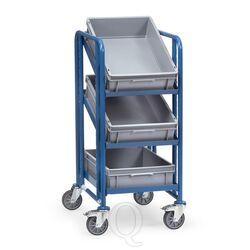 Bakkenwagen 250 kg met 3 etages 410x610 en 3 eurobakken