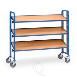 Bakkenwagen 250 kg met 3 houten etages 1240x415 (lxb) kantelbaar