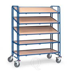 Bakkenwagen 300 kg met 5 houten etages 1240x610