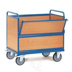 Bakwagen 600 kg 1200x800 met houten wanden