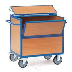 Bakwagen 600 kg 1200x800 met houten wanden en deksel