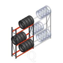 Bandenstelling grootvak AR 2250x1500x400mm (hxbxd) 3 niveaus antraciet beginsectie