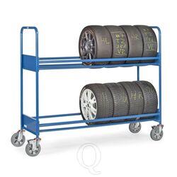 Bandenwagen 500 kg met 2 laadvlakken extra verstevigd