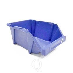 Stapelbare en nestbare kunststof magazijnbak type S4, 300x200x130 blauw