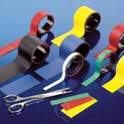 Beschrijfbare magnetische etiketten 140 x 25 mm wit