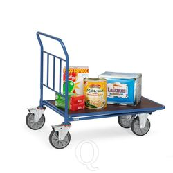 Cash & carry wagen 400 kg 850x500 (lxb) met duwbeugel