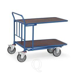 Cash & carry wagen 400 kg 850x500 (lxb) met duwbeugel en 2 verstelbare etages