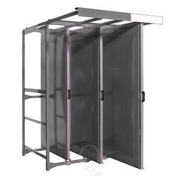 Toolpanel stand met 3 frames inclusief panelen met ronde gaten