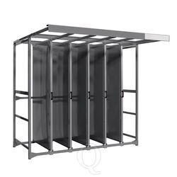 Toolpanel stand met 5 panelen met ronde gaten
