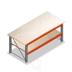 Dubbellaags Werkbank, Werktafel zonder voorgemonteerde frames