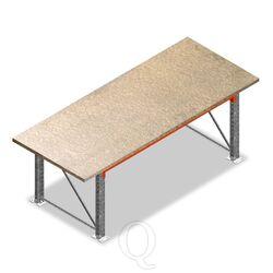 Enkellaags Inpaktafel, Paktafel zonder voorgemonteerde frames